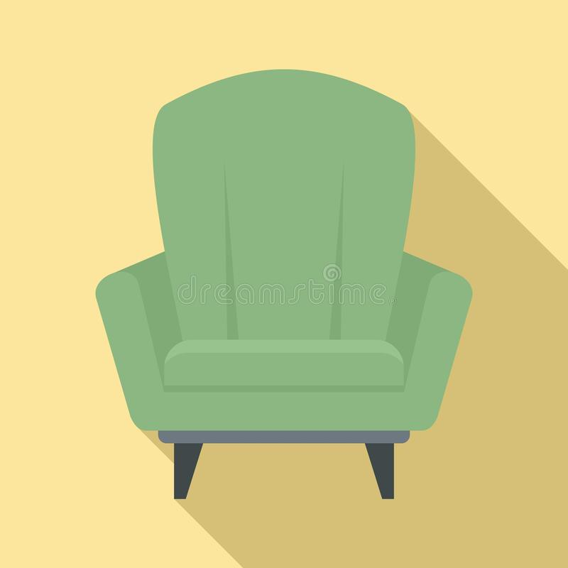 Relax armchair icon, flat style vector illustration