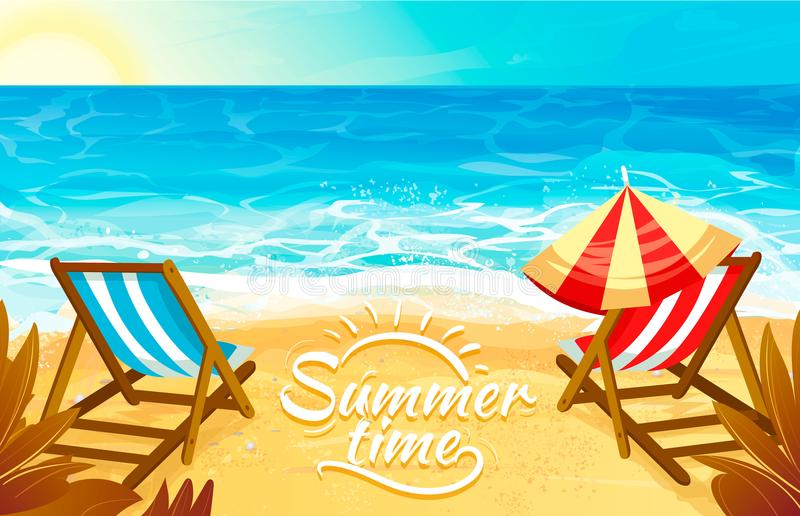 Relax on the beach vector illustration