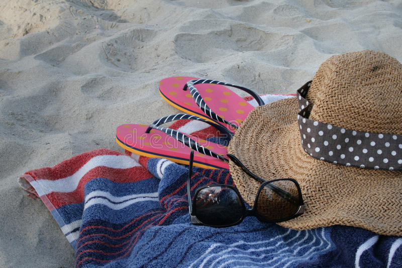 Download Relax on the beach stock photo. Image of cloudscape, cloth - 40425874