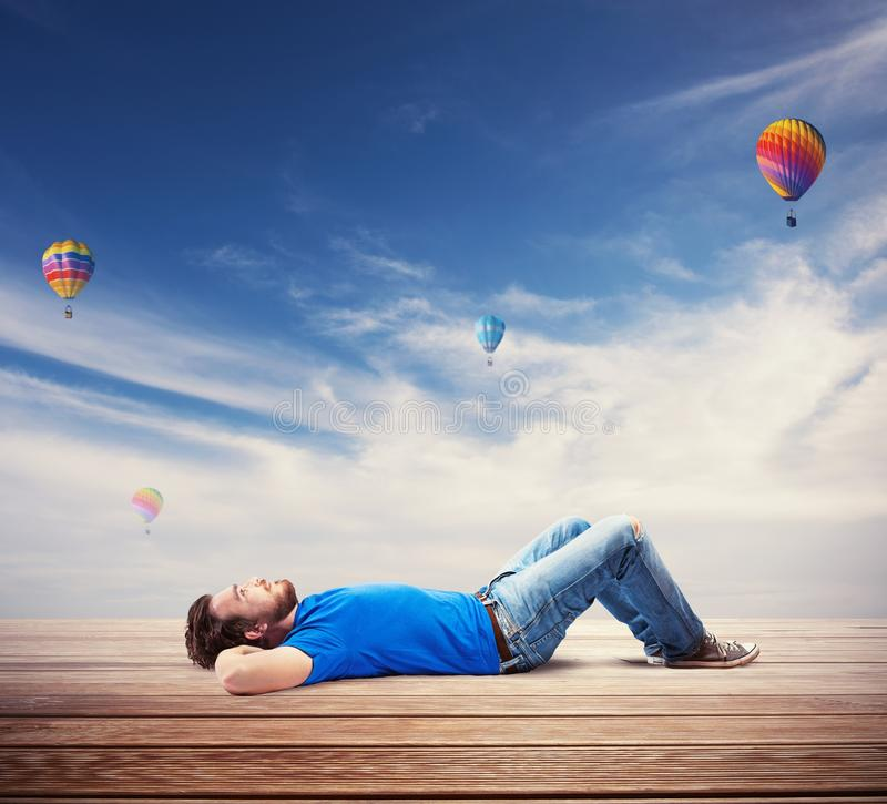 Download Relax stock photo. Image of freedom, future, travel, cloud - 37942314