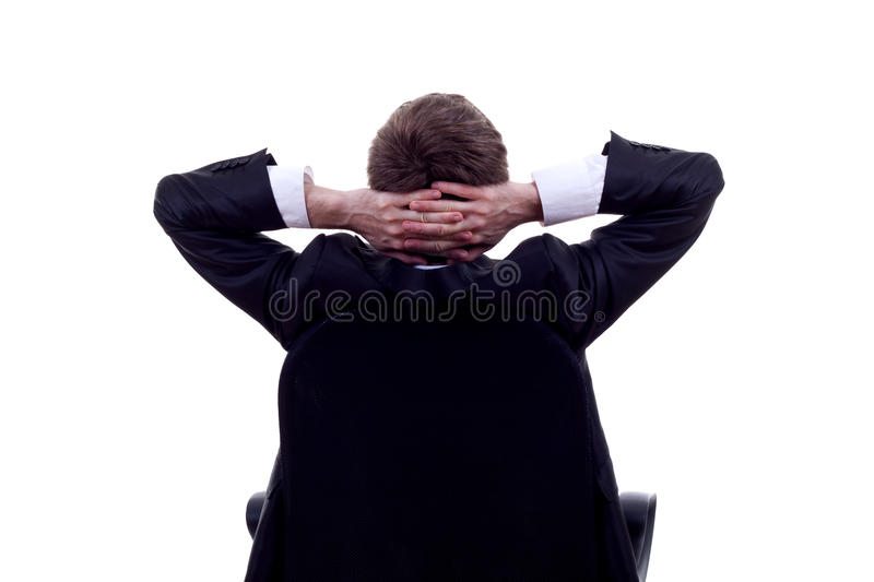 Relax of the business man royalty free stock images