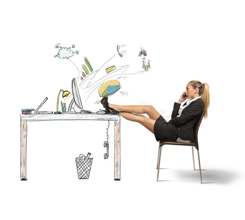Relax of a businesswoman stock photography