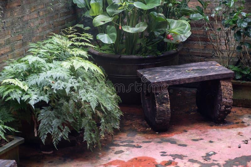 Relax corner in garden royalty free stock photos