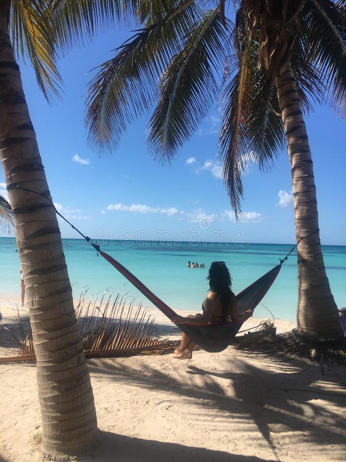 Relax in Cuban paradise royalty free stock photo