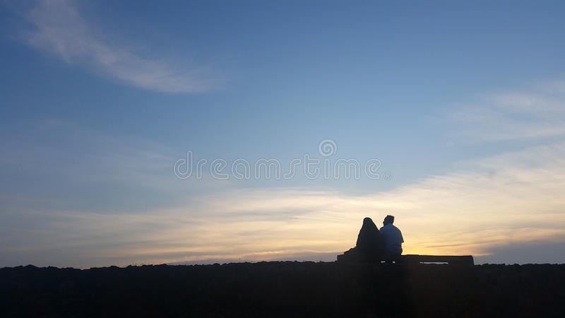 Relax in the evening royalty free stock photography