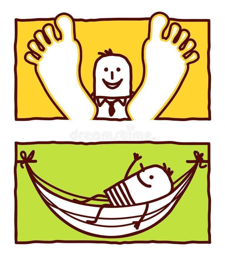 Relax & hammock royalty free illustration