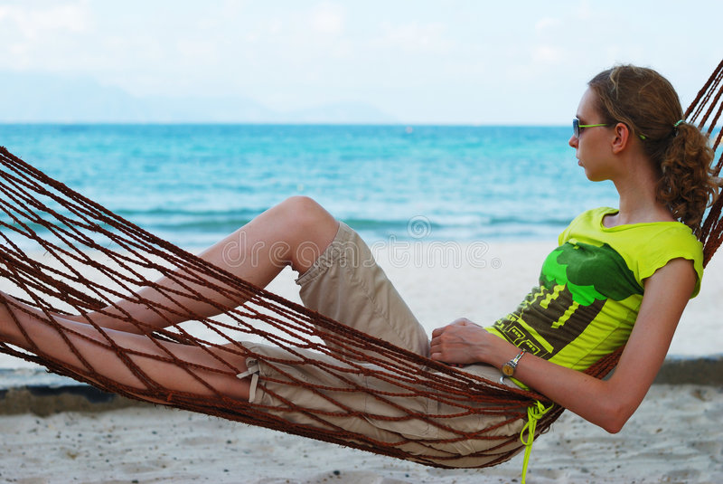 Relax in hammock stock photos