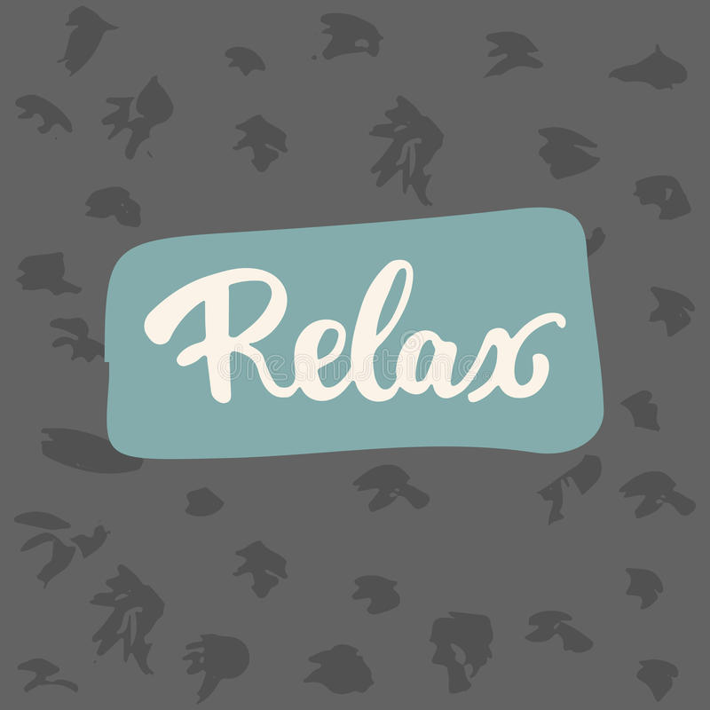 Relax - hand drawn lettering phrase on the white background. Fun brush ink inscription for photo overlays. Greeting card or t-shirt print, poster design vector illustration