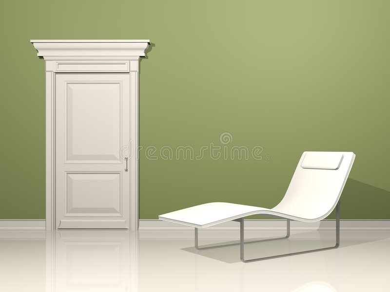 Relax Interior design stock illustration