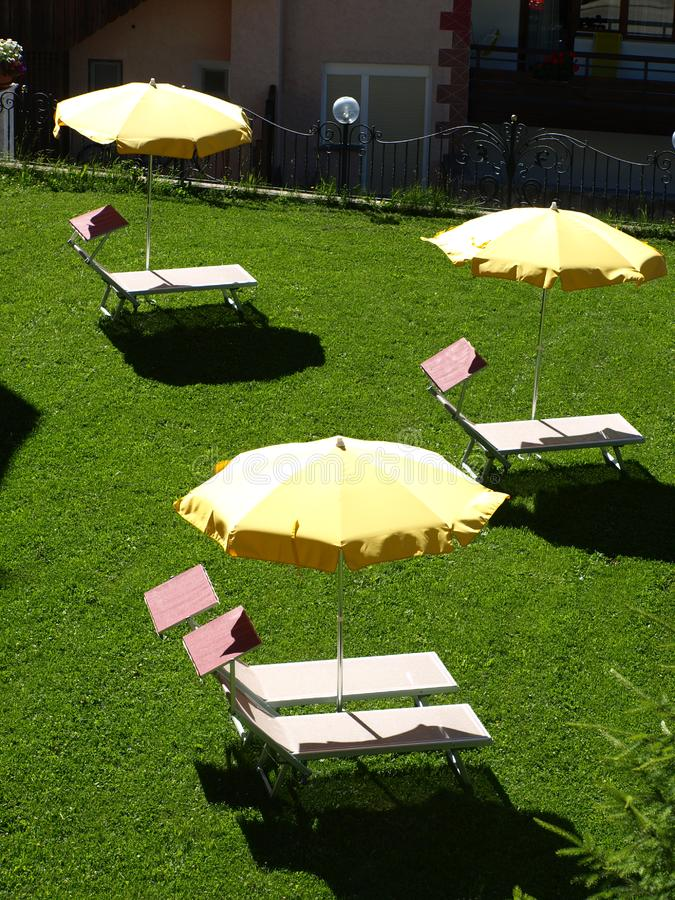 Download Relax on the lawn stock image. Image of vacation, yellow - 5793227