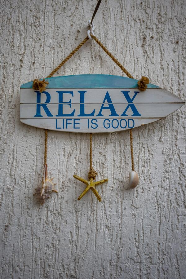 Relax, life is good royalty free stock image