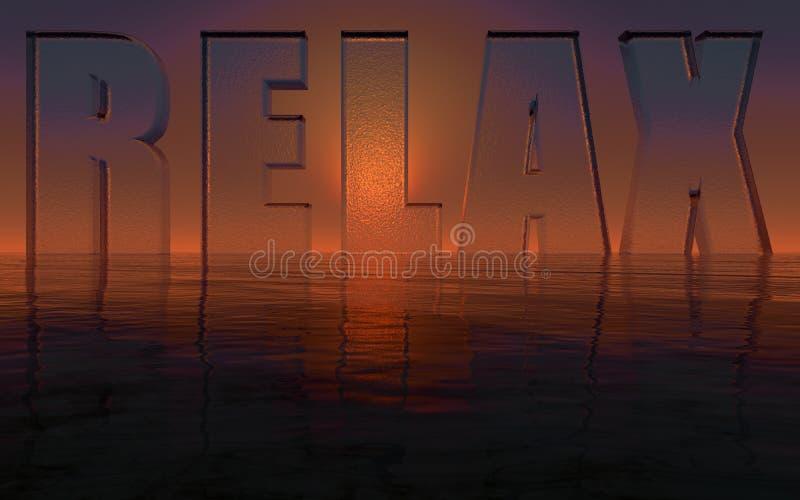 Relax stock illustration