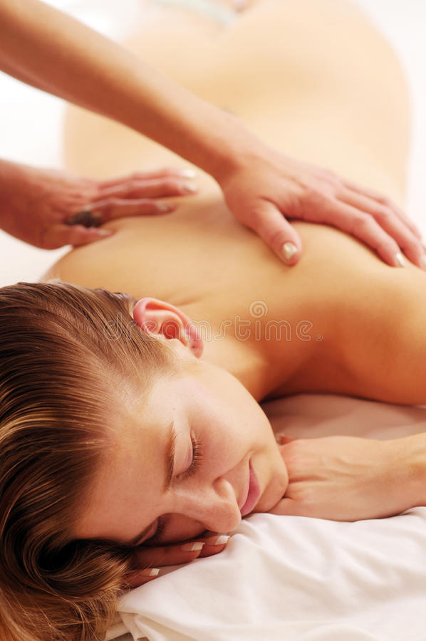 Relax massage royalty free stock images