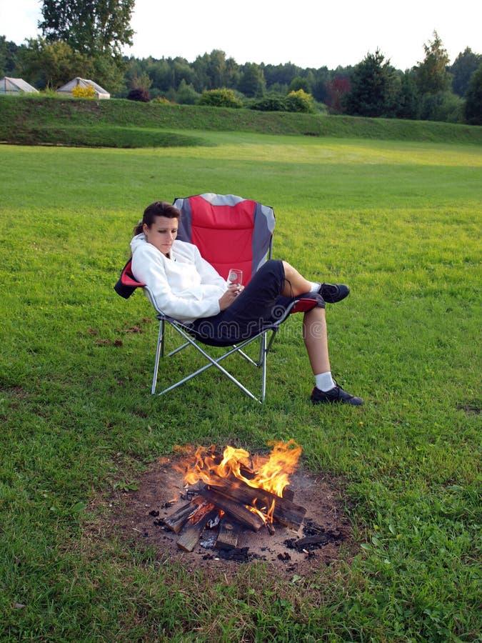 Relax near fire royalty free stock photos