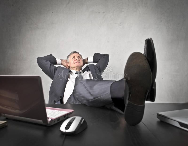Download Relax at the office stock photo. Image of mature, success - 24063676
