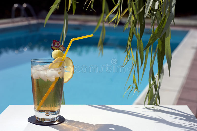 Relax by the pool 2 royalty free stock image