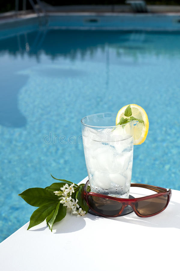 Relax by the pool 7 stock image