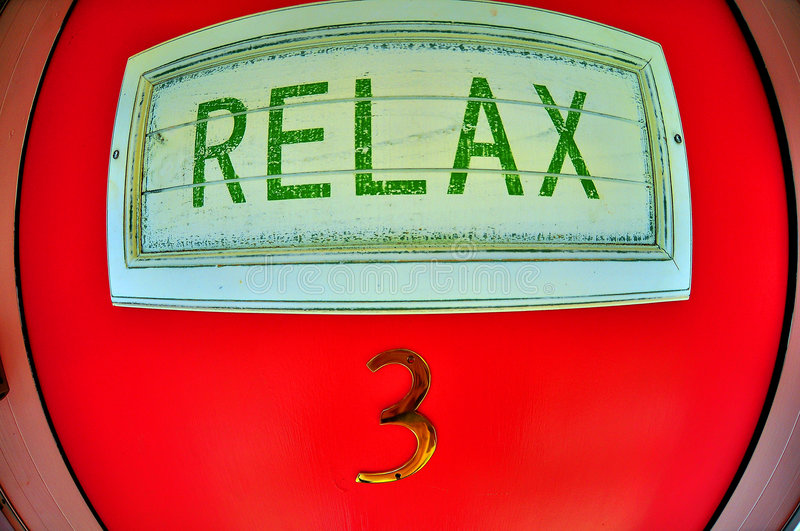 Relax Sign on Door royalty free stock images