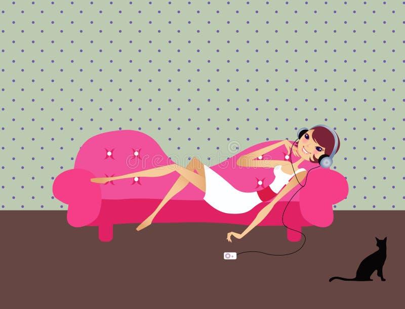 Relax at sofa