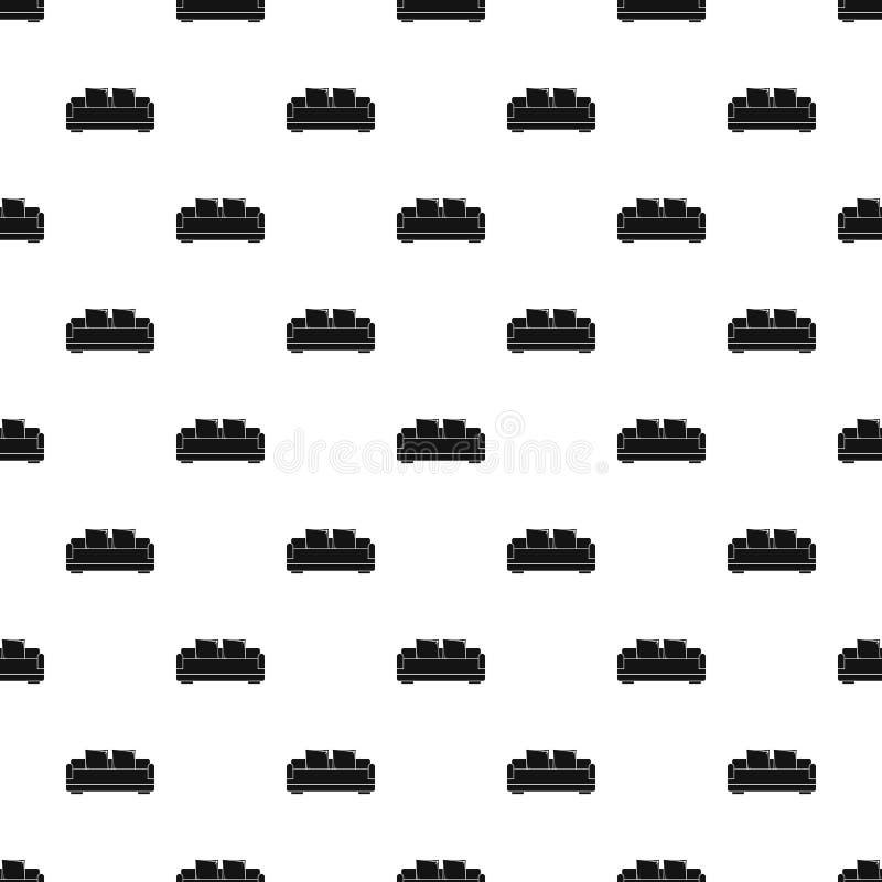 Relax sofa pattern seamless vector vector illustration