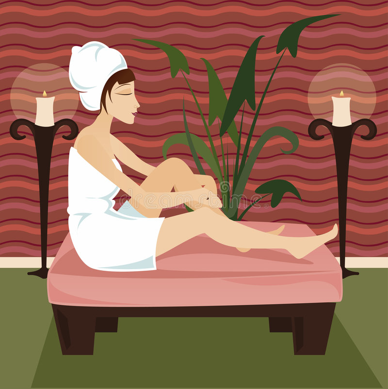 Download Relax Spa stock illustration. Image of health, brown, woman - 818455