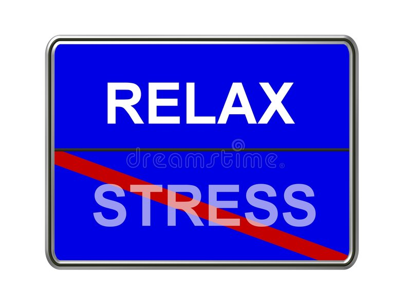 Download Relax and stress sign stock illustration. Image of generated - 5981246