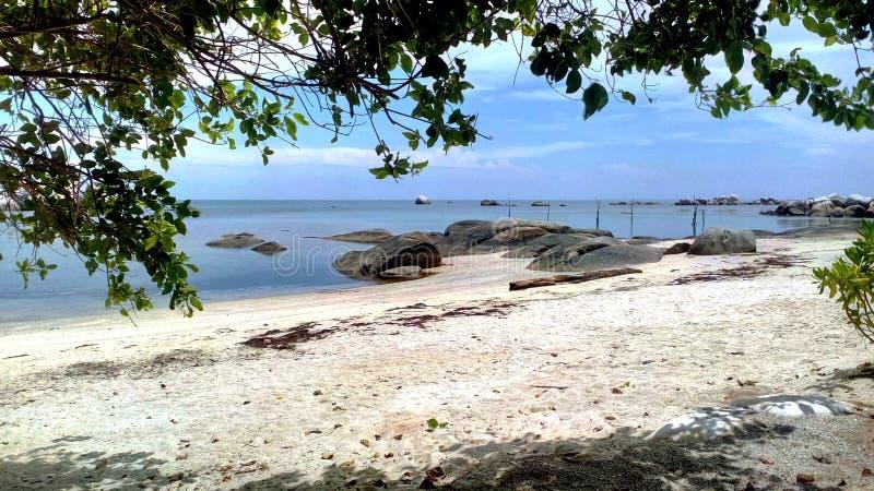 Relax at Tanjung Tinggi Beach stock images