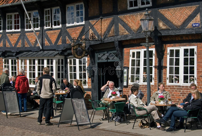 Download Relax Time In Ribe , Denmark Editorial Stock Photo - Image: 18316228