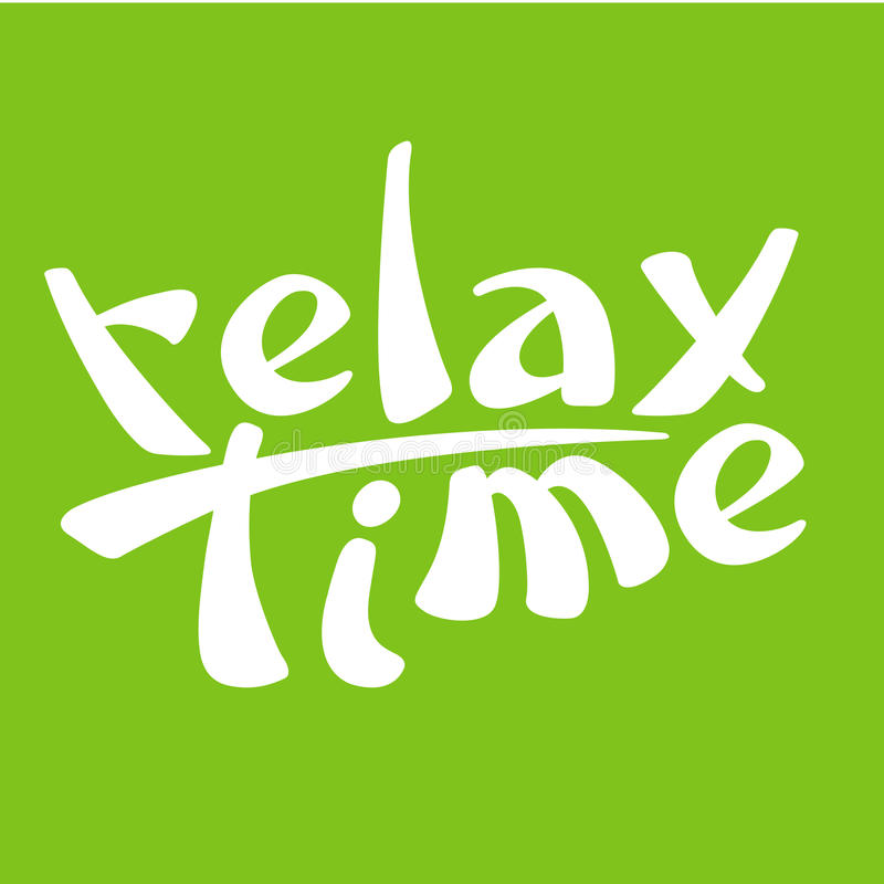 Relax time sign logo vector illustration background. Green vector illustration