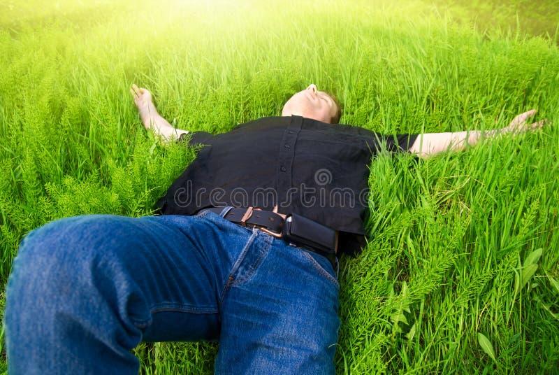 Relax under spring sun stock photos