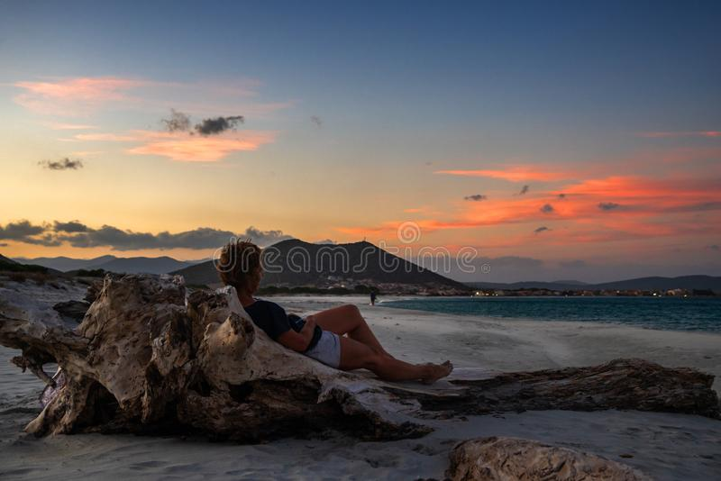 Relax on vacation in Sardinia royalty free stock photography