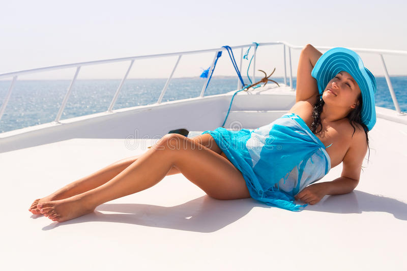 Relax on the yacht cruise royalty free stock photography