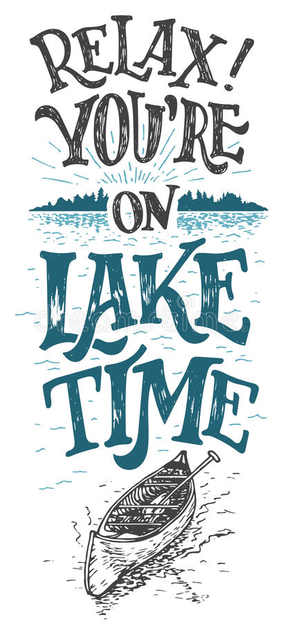 Free Relax You Re On Lake Time Cabine Decor Sign Royalty Free Stock Image - 70781916