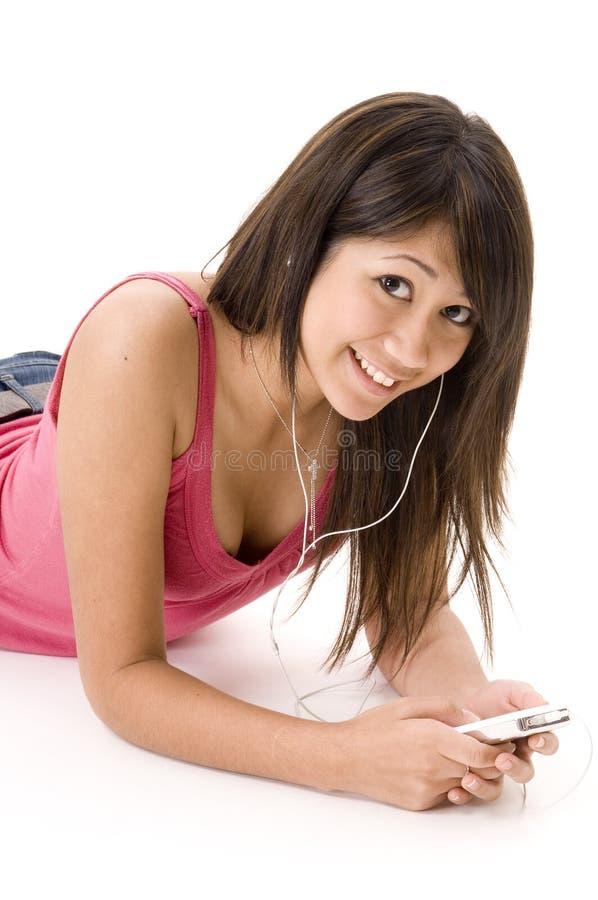 Relaxamento com música 3 imagem de stock