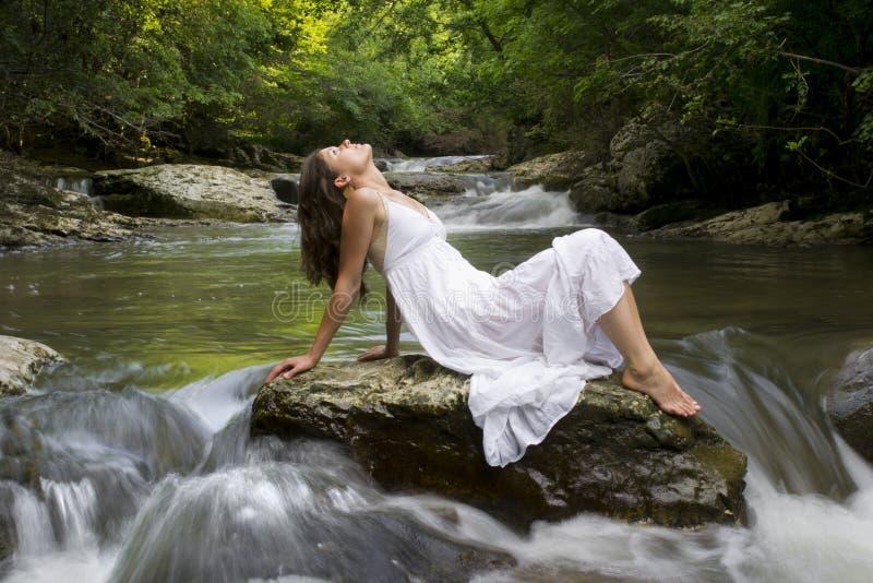Relaxamento com natureza imagens de stock royalty free