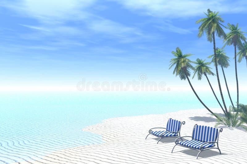 Relaxamento junto ilustração royalty free