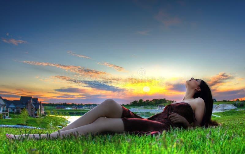 Relaxamento modelo imagem de stock