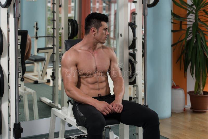 Relaxamento no fitness center fotos de stock royalty free
