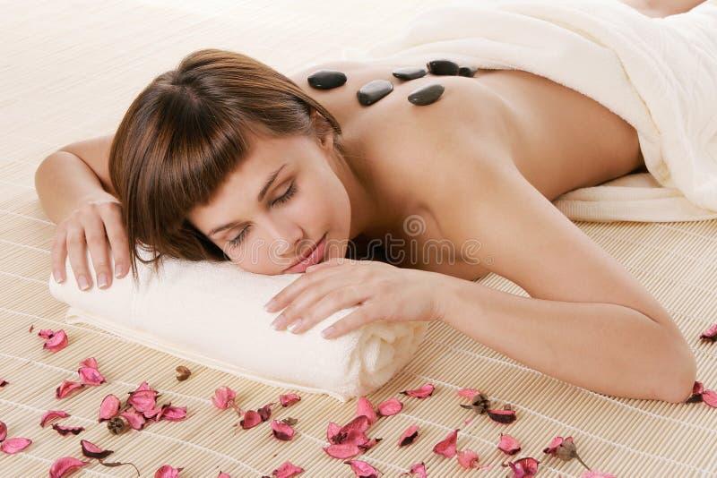 Relaxamento nos termas imagens de stock royalty free