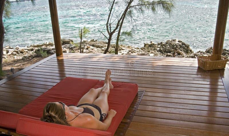Relaxamento nos tropics foto de stock
