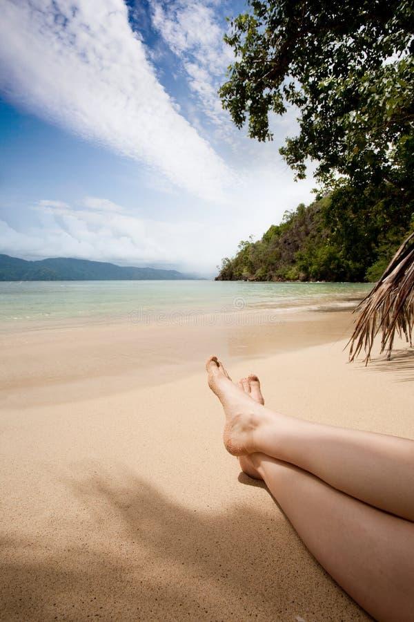 Relaxamento nos Tropics fotografia de stock