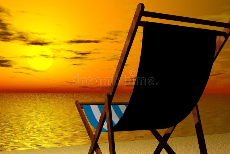 Relaxamento pela praia imagens de stock