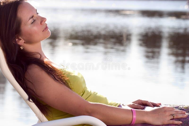 Relaxamento triguenho imagem de stock