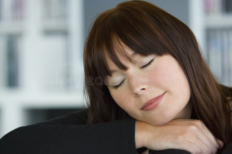 Download Relaxation stock image. Image of woman, inside, despondent - 1673143