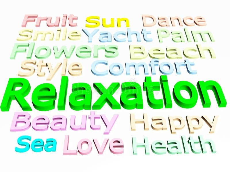 Relaxation stock illustration
