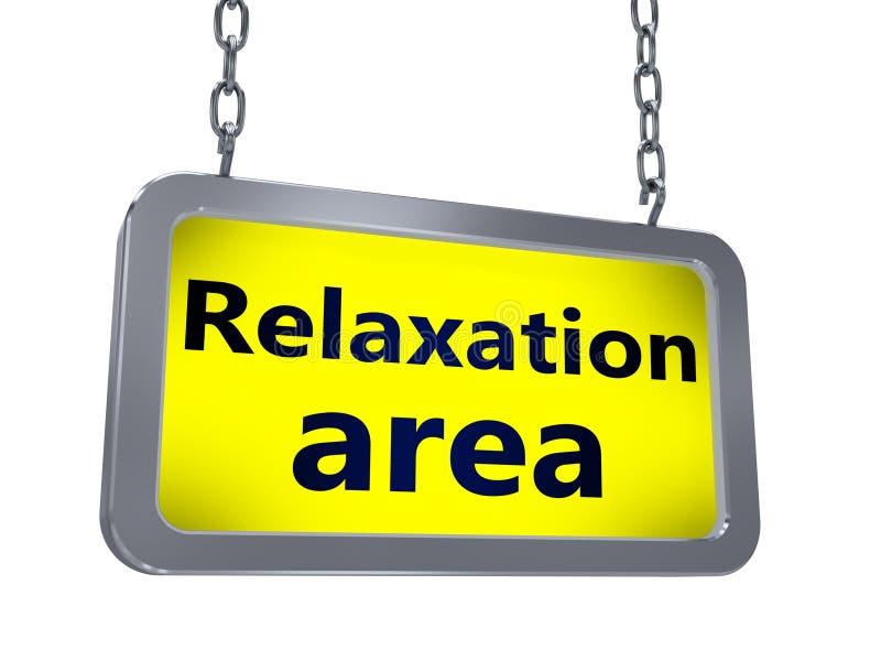 Relaxation area on billboard stock illustration