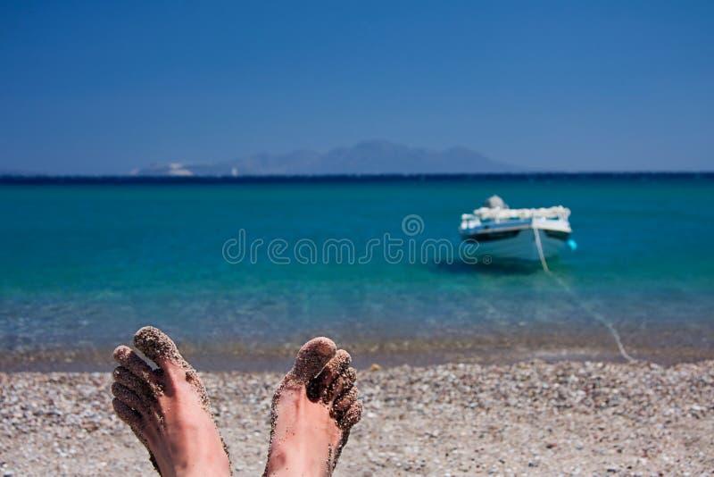 Relaxation on the Beach stock photos