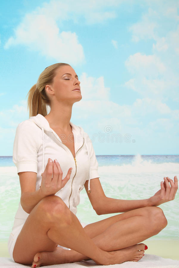 Relaxation at the beach stock photography