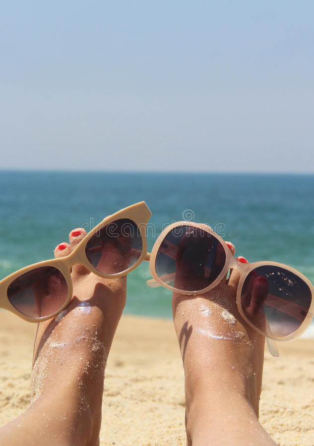 Download Relaxation on the beach stock image. Image of glasses - 29456859