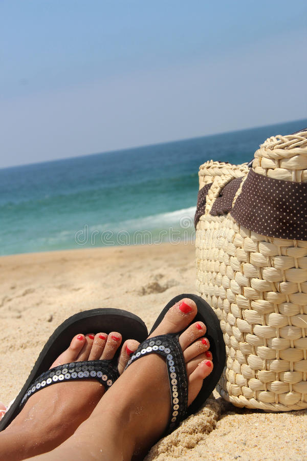 Relaxation On The Beach Stock Photography